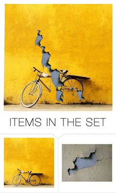 """Abandoned Bike"" by thisisinteresting ❤ liked on Polyvore featuring art"