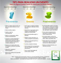 Tips for an event - Tips para realizar un evento