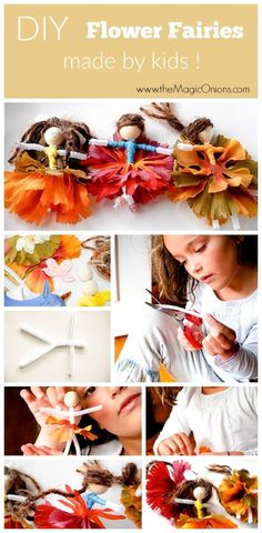 DIY Flower Fairies made by KIDS! :: www.theMagicOnions.cim