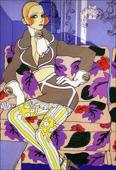 Antonio Lopez fashion illustration, c 1967-68.