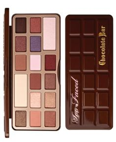 Too Faced Chocolate Bar Palette (651986410132) What it is: A sweet, tempting array of 16 matte and shimmer shadows scented with chocolate to entice all the senses! We've selected the perfect array of chocolate reminiscent shades to entice the senses for visual appeal and to satisfy your chocolate cravings with the smell of real cocoa extract. Each shade was perfectly selected just like a fine piece of chocolate to create a rich selection of the perfect browns, neutrals and a little pop of…