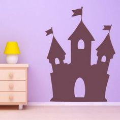 Наклейка для дома от 2stick.ru Небольшой сказочный замок с тремя башнями