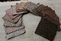 Ravelry: Graduated squares for a project.