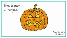 How to draw a pumpkin #learn #howto #draw #pumpkin #halloween