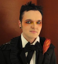 Gothic Make-Up on Clint Catalyst by Adam K [oh my Goth! I used to be pen pals with this guy in the 80's!]