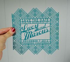 Dapper Save the Date Laser Cut 100pcs by avie on Etsy, $1017.00
