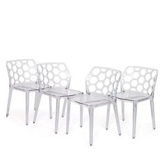 Honeycomb Chair Clear Set Of 4 now featured on Fab.