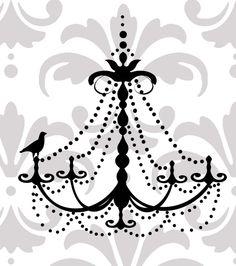 Elegant chandelier vinyl wall decal