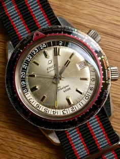 FS Enicar Sherpa Guide Mark II GMT World Timer (March 1965) Image 1 World Timer, Designer Watches, Vintage Watches, Bangkok, Omega Watch, Rome, Tokyo, Mario, Stuff To Buy