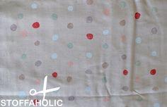 Colorful Pocho Stoff Nani Iro hellrosa mit Punkten