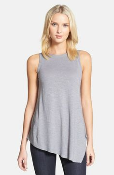 Eileen Fisher Round Neck Asymmetrical Shell (Regular & Petite) available at #Nordstrom