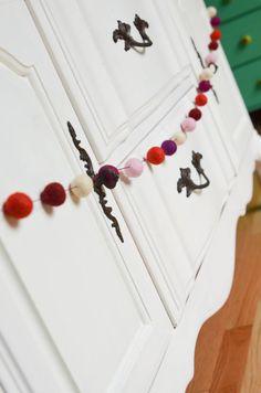 Sugar plum felt garland Felt Garland, Plum, Sugar, Decoration, Heart, Christmas, Etsy, Decorating, Navidad