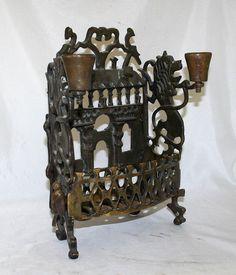 Polish Antique Judaica Hanukkyah  Poland 18th Century