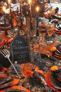 Beware!-Part 2 of an amazing table.  I remember those spider cupcake holders from Michael's!