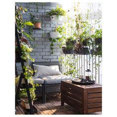Ikea Outdoor, Outdoor Spaces, Outdoor Decor, Ikea Patio, Outdoor Balcony, Outdoor Ideas, Indoor Outdoor, Apartment Balcony Decorating, Apartment Balconies