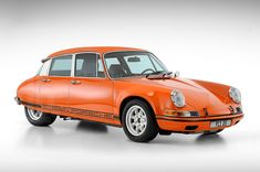 two cars in one, a porsche citroen 911 DS franken-sportscar