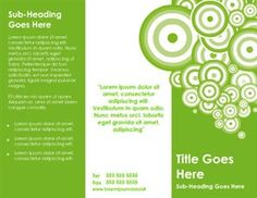 Green Small Business Brochure Template