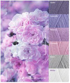 Purple Color Schemes, Color Schemes Colour Palettes, Colour Pallette, Color Blending, Color Mixing, Yarn Color Combinations, Spring Coloring Pages, Yarn Organization, Coordinating Colors