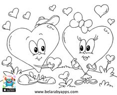 Happy children's day coloring pages - free printable ⋆ BelarabyApps Heart Coloring Pages, Butterfly Coloring Page, Cartoon Coloring Pages, Disney Coloring Pages, Christmas Coloring Pages, Coloring Pages To Print, Coloring For Kids, Coloring Pages For Kids, Coloring Books