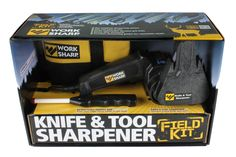 Work Sharp WSKTS-KT Knife and Tool Sharpener Field Kit >>> Continue to the product at the image link. (This is an affiliate link and I receive a commission for the sales) Professional Knife Sharpener, Global Knives, Outdoor Knife, Outdoor Gear, Best Hunting Knives, Specialty Knives, Tool Shop, Knife Sharpening, Knives And Tools
