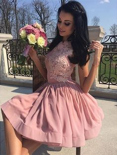 Prom Dress Beautiful, 2019 Homecoming Dresses A Line Scoop Chiffon With Applique Short/Mini, Discover your dream prom dress. Our collection features affordable prom dresses, chiffon prom gowns, sexy formal gowns and more. Find your 2020 prom dress Cheap Semi Formal Dresses, Inexpensive Prom Dresses, Dresses Short, Short Mini Dress, Mini Dresses, Party Dresses, Chiffon Dresses, Dresses Dresses, Discount Prom Dresses