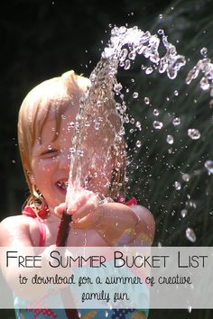 Family Friendly Summer Bucket List to download for free