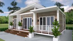 Simple House Design Plans with 3 Bedrooms Full Plans - House Plans House Floor Design, Simple House Design, Modern House Design, Villa Design, House Plans One Story, Story House, Small House Plans, 2 Bedroom House Plans, Bungalow House Plans