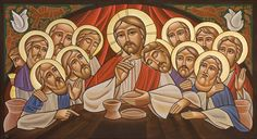 Coptic icon of the Last Supper