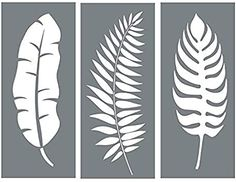 Leaf Stencil Set - Pack of 3 Unique Leaf Wall Stencil Designs for Painting - Use This Leaf Stencil Kit to Update Your Home Decor Wall Stencil Designs, Wall Stencil Patterns, Stencil Templates, Wall Design, Leaf Stencil, Stencil Art, Flower Stencils, Stencil Painting On Walls, Painted Leaves