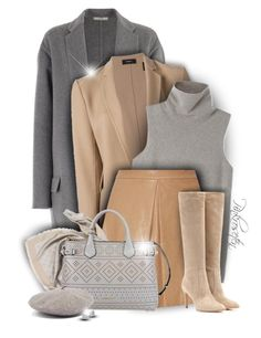 """""""Neutral colors for Winter"""" by pinkroseten ❤ liked on Polyvore featuring CÉLINE, Theory, The Row, Alice + Olivia, Louis Vuitton, Burberry, Gianvito Rossi, Brixton and Kate Spade"""