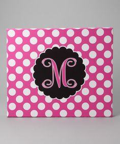 """Cute. Could make it. Buy some poka-dot fabric, hot glue or staple gun to plywood or foam board.... hum.... the circle & """"T"""" use a stencil & or make one with an exacto knife. Hm... too much work?"""