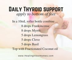 Essential oils for #thyroid support