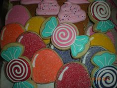 Candyland Baby Shower Cookies