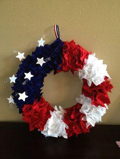 Patriotic 4th of July Door Wreath