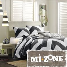 Mi Zone David Black Plaid 3-piece Coverlet Set - Overstock Shopping - The Best Prices on Mi-Zone Teen Quilts