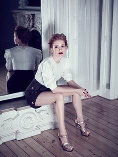 Jessica Chastain photographed by Max Vadukul