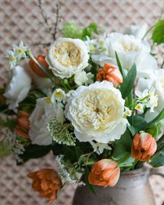 Large Roses Natural Style Wedding Bouquet with Crystals Bridal Brides Apricot /& Peach Rose Posy Ready Made