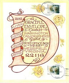 Karin Gable - Adult Honorable Mention - 2012 Graceful Envelope Contest . #mailart #snailmail #happymail #funmail #AlteredEnvelope