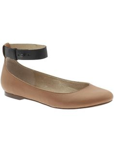 ankle strap leather flats $49.99