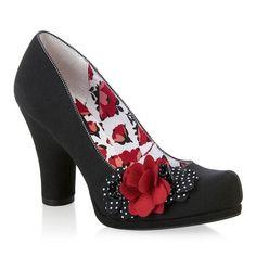 Ruby Shoo Eva Black Polka Court Shoe – Pretty Kitty Fashion