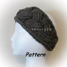 Instant Download to PDF CROCHET Pattern: The Braided-Look Headband by R0SEDEW on Etsy https://www.etsy.com/listing/87560616/instant-download-to-pdf-crochet-pattern