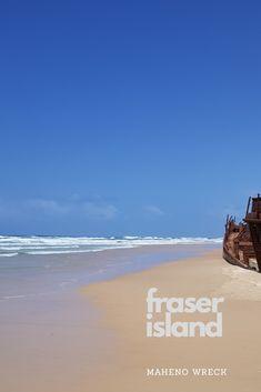 ⚓ #MAHENO #WRECK auf #FraserIsland // #australien #australientipps Fraser Island, Beach, Water, Outdoor, Australia, Tips, Gripe Water, Outdoors, The Beach