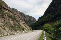 Caucasus. Kabardino-Balkaria. Baksan Gorge. Ahead of Balkar AUL Wonders. Direction from Mount Elbrus.