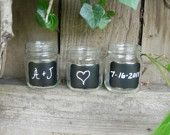 Chalkboard Mason Jars- use as labels for individual's drink cups