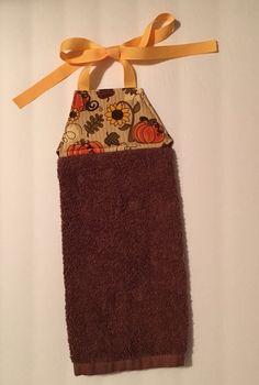Awesome Fall Hanging Towel, Tie Kithen Towel, Tie Hanging Towel, Dish Towel, Tea