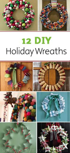 Decorate your front door with one of these 12 easy Christmas wreath crafts.