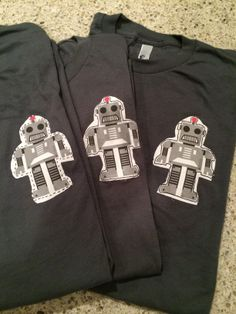 These hand sewn robot t-shirts are Made in America.