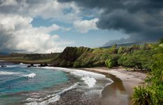 5. Hamoa Beach, Hawaii  Photograph by Ed Freeman, Getty Images    Already dubbed the world's best beach by Ernest Hemingway, the crescent-shaped Hamoa Beach (pictured) is one of the more famous in Maui.