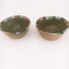 stoneware  multicoloured serving bowls