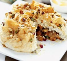 Moroccan spiced pie - this is sooooo good - definitely worth the effort in looks and flavour!